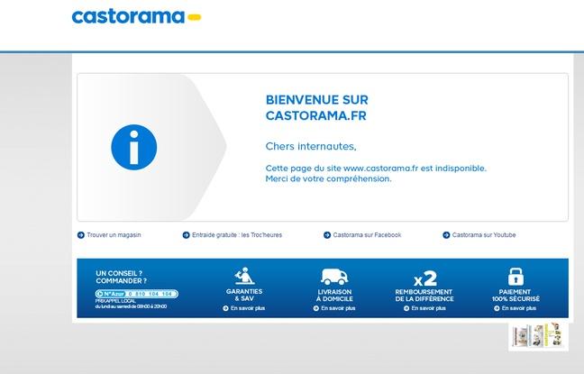 Capture d'écran du site castorama indisponible en juin 2016