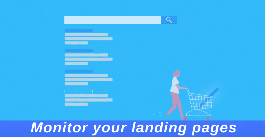 Monitor your landing pages
